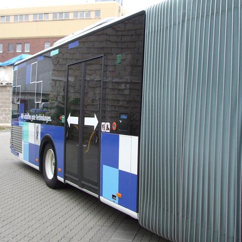 Dadina-Bus, rechte, hintere Seite