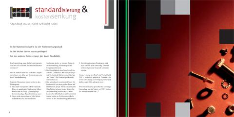 Image-Broschüre, KOMPETENZfeld Standardisierung & Kostensenkung