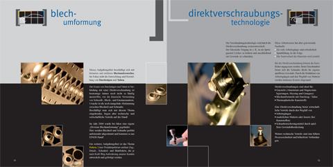 Image-Broschüre, PRODUKTfelder Blechumformung & Direktverschraubungstechnologie