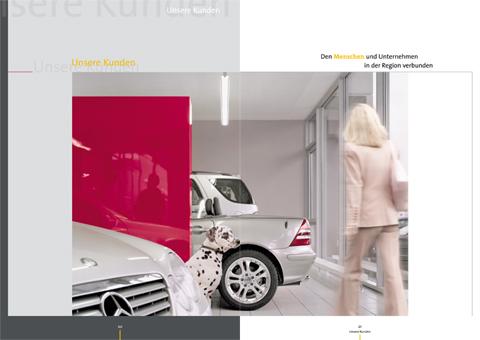 "Konzept / Gestaltung, HSE Geschäftsbericht 2003 – ""Farbe bekennen"""